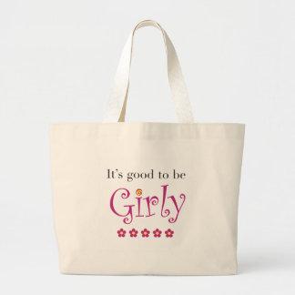 It's good to be girly jumbo tote bag