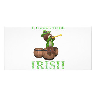 IT'S GOOD TO BE IRISH PHOTO CARD TEMPLATE