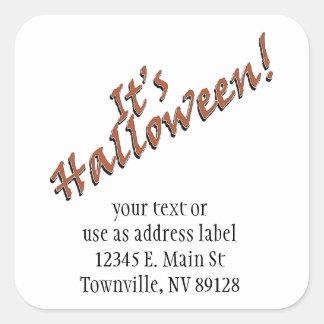 It's Halloween Viner Text Design Square Sticker