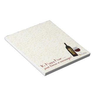 It's Happy Hour leave a message ... Notepad