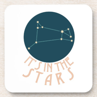 Its in the stars Aries Beverage Coaster