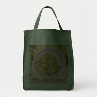 It's in there! grocery tote bag