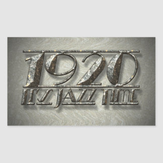 It's Jazz Time 1920 Dance Music Style Billboard Rectangular Sticker