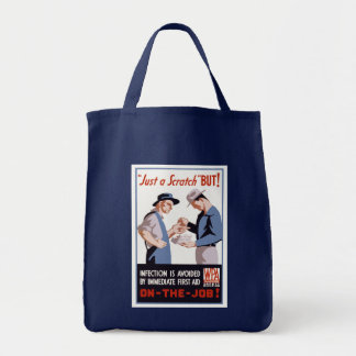 It's Just a Scratch - But! Grocery Tote Bag