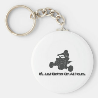 It's Just Better on All Fours Basic Round Button Key Ring