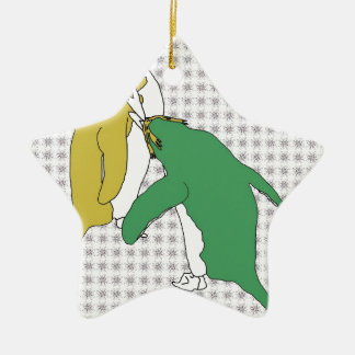 It's Just Khaki and Green Christmas Ornament