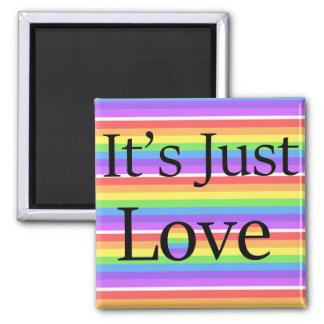 It's Just Love, Rainbow LGBT Gay Lesbian Magnet