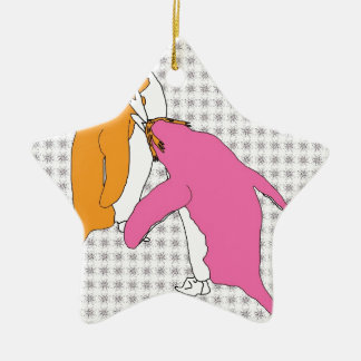 It's Just Mustard and Pink Christmas Ornament