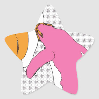 It's Just Mustard and Pink Star Sticker