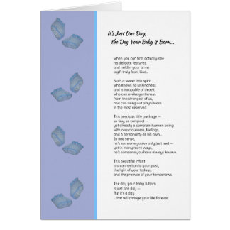 It's Just One Day...New baby boy Card