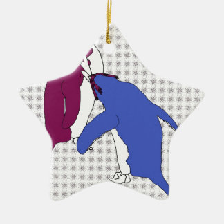 It's Just Purple and Blue Christmas Ornament