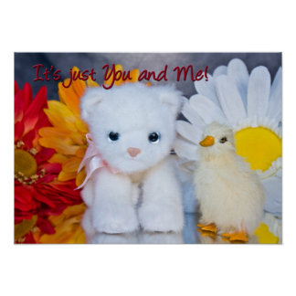 It's Just You and Me! Child's Poster Print