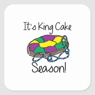 Its King Cake Square Sticker