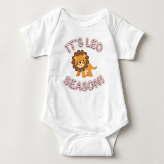It's Leo Season! Baby Bodysuit (Pink)