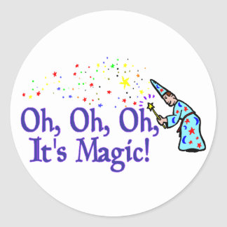 It's Magic Round Sticker