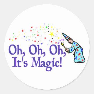 It's Magic Classic Round Sticker