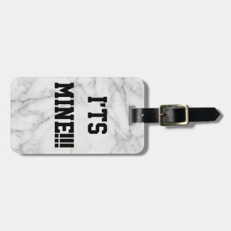 ITS MAINE!!! marbled Luggage Tag w/ leather strap