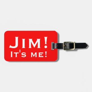 It's me! Personalised Luggage tags.