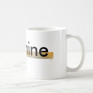It's mine - classic white coffee mugs