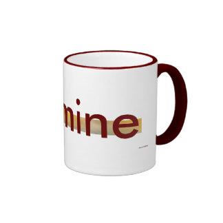 It's mine - maroon coffee mug
