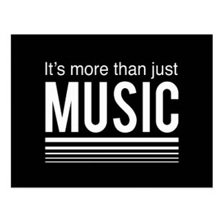 It's More than Just Music Postcard