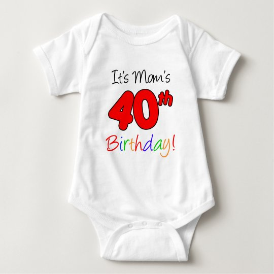 It's Mum's 40th Birthday Baby Bodysuit