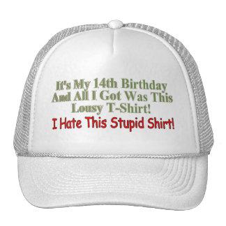 Its My 14th Birthday Gifts Mesh Hats