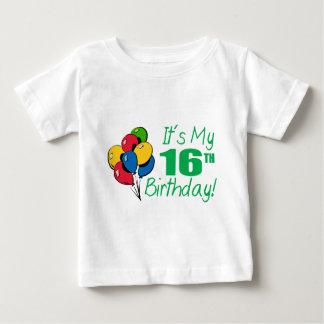 It's My 16th Birthday (Balloons) Baby T-Shirt