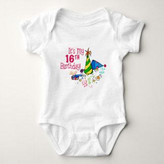 It's My 16th Birthday (Party Hats) Baby Bodysuit