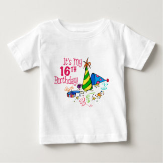 It's My 16th Birthday (Party Hats) Baby T-Shirt