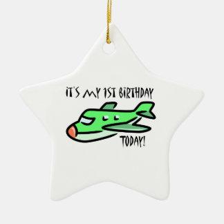 It's My 1st Birthday Today Ceramic Star Decoration
