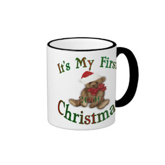 Its My 1st Christmas Ringer Mug