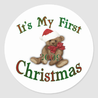 Its My 1st Christmas Round Sticker