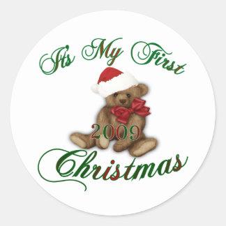 Its My 1st Christmas Round Sticker