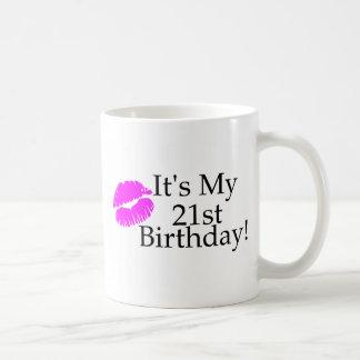 Its My 21st Birthday (Kiss) Basic White Mug