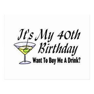 It's My 40th Birthday Postcard