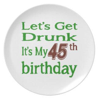 It's My 45th Birthday Dinner Plate