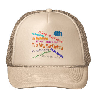 It's My 4th Birthday Gifts Cap