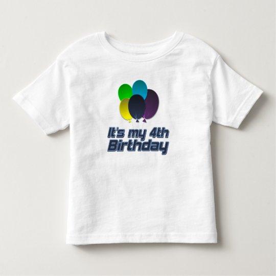 Its my 4th Birthday Toddler T-Shirt
