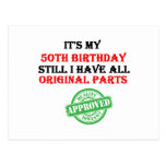 It's My 50th Birthday Postcard