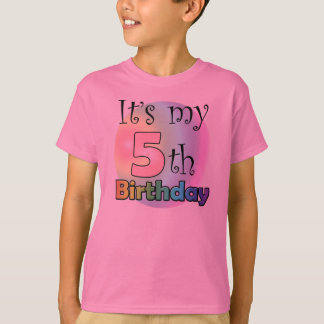 It's my 5th Birthday (girl) T-Shirt