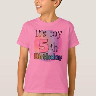 It's my 5th Birthday (girl) T-shirts