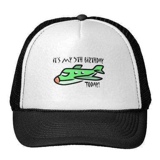 It's My 5th Birthday Today Mesh Hats
