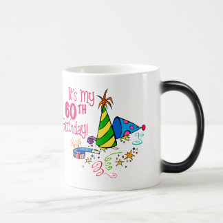 It's My 60th Birthday (Party Hats) Magic Mug