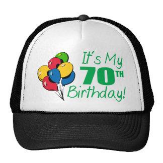It's My 70th Birthday (Balloons) Cap