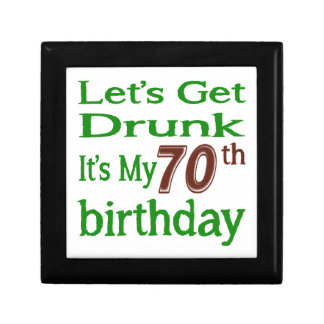 It's My 70th Birthday Small Square Gift Box
