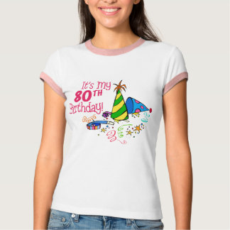 It's My 80th Birthday (Party Hats) T-Shirt