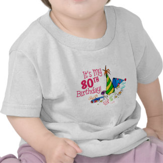 It's My 80th Birthday (Party Hats) Shirts