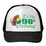 It's My 90th Birthday (Balloons) Trucker Hat