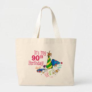 It's My 90th Birthday (Party Hats) Jumbo Tote Bag
